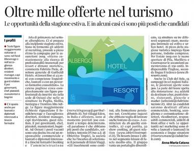 285 - Corriere Economia - Alberghi, assunzioni per l'estate - 5.03.19 - pp. 31