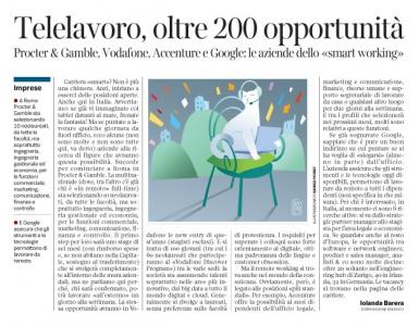 Corriere Economia - telelavoro. Woaoo!  - 21.03.17 - pp.39