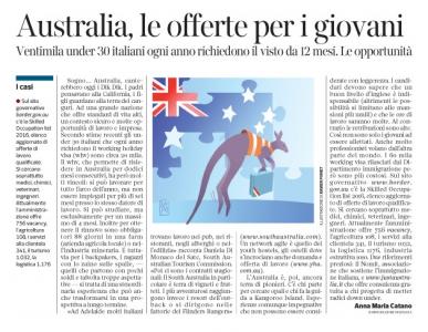 Corriere economia - Australia, istruzioni per l'uso - 24.05.16