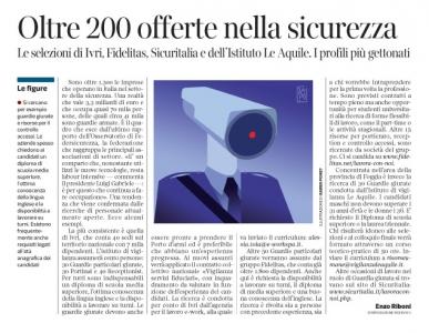 233 - Corriere Economia - assunzioni nel settore sicurezza  - 31.10.17 - pp 33