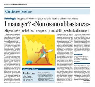 Corriere Economia - 15.11.13 - Profilo (di profilo) del manager ita. oggi