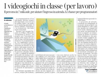 Corriere economia -Videogiochi-ottima iniziativa! - 31.05.16