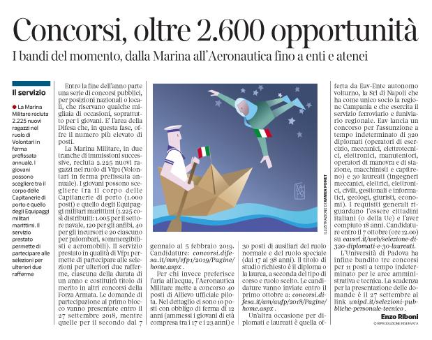 264 - Corriere Economia - concorsi, marina e aviazione militare - 11.09.18 - pp.31