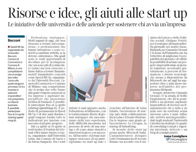 Corriere economia - Start...Up-aiutino - 12.04.16