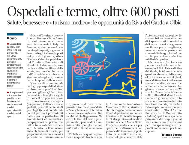 238 - Corriere Economia - Health tour in Italy; assunzioni - 5.12.17 - pp.41