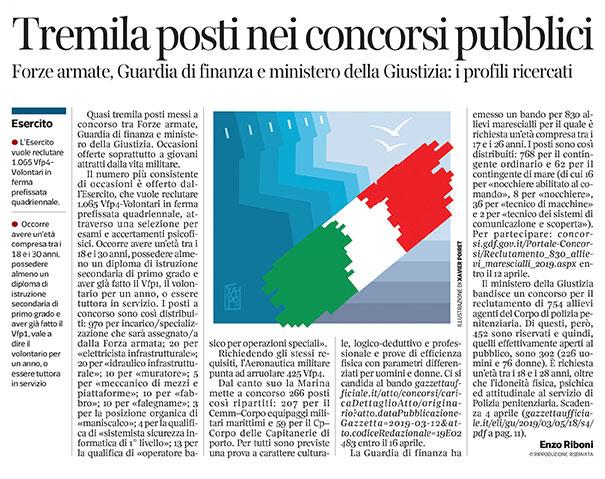 288 - Corriere Economia - vita militare,concorsi per giovani - 26.03.19 - pp.33