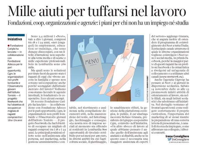 Corriere Economia - neet . misure ad hoc - 10.11.15