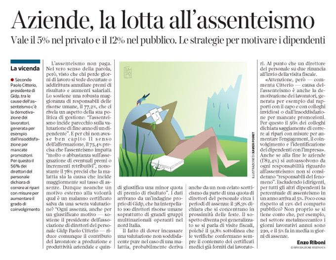Corriere Economia - Assenteismo - 12.01.16 pp.41