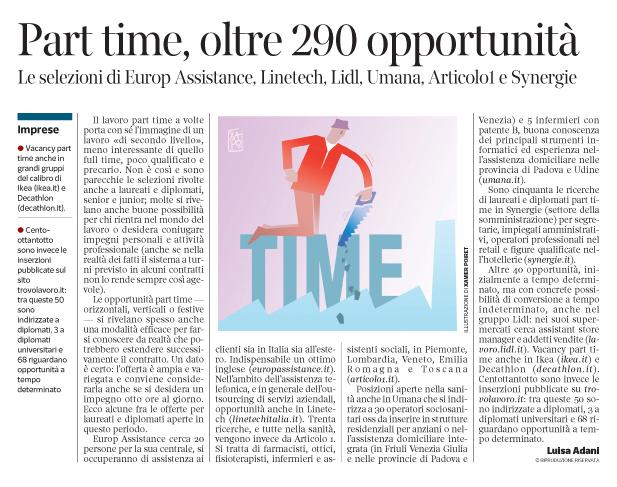 275 - Corriere Economia - Part-time - 4.12.18 - pp 41