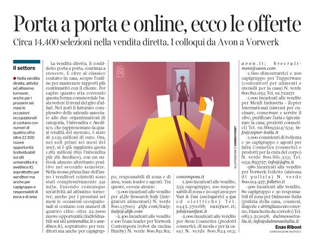 230 - Corriere Economia - porta a porta, assunzioni -3.10.17 - pp.41