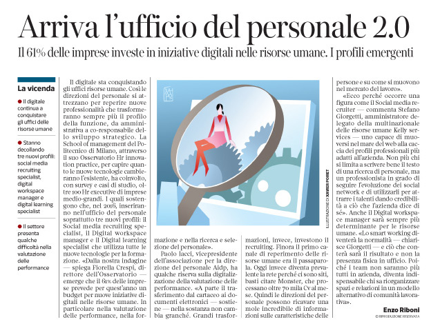 193 - Corriere Economia - L'uff. del personale si digitalizza - 6.09.16 - pp.31