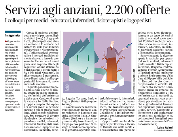 284 - Corriere Economia - servizi e prodotti per anziani,assunzioni - 26.02.19 - pp.36