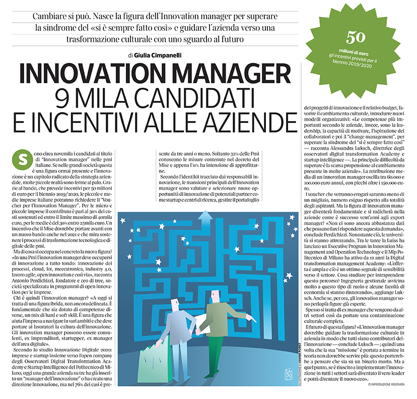 309 - Corriere Lavoro - innovation manager - 30.12.19 - pp.23