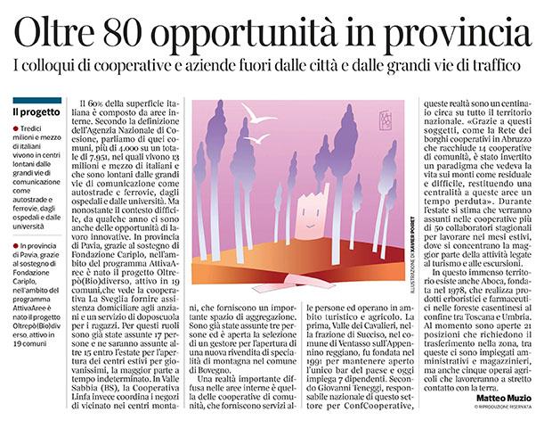 295 - Corriere  Economia - assunzioni agli angoli delle province  - 21.05.19 -  pp.35