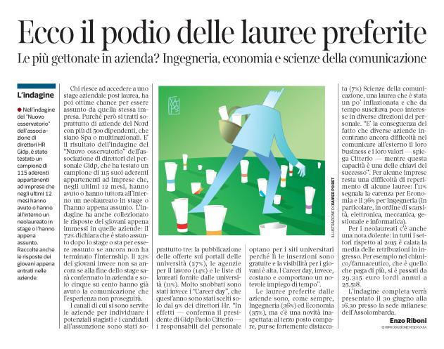 Corriere economia - Cueilliette des diplômes - 21.06.16 - pp.33