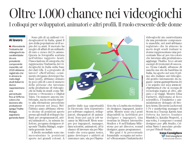 Corriere Economia - Lavoro con i videogiochi - 7.02.17 -   pp.41