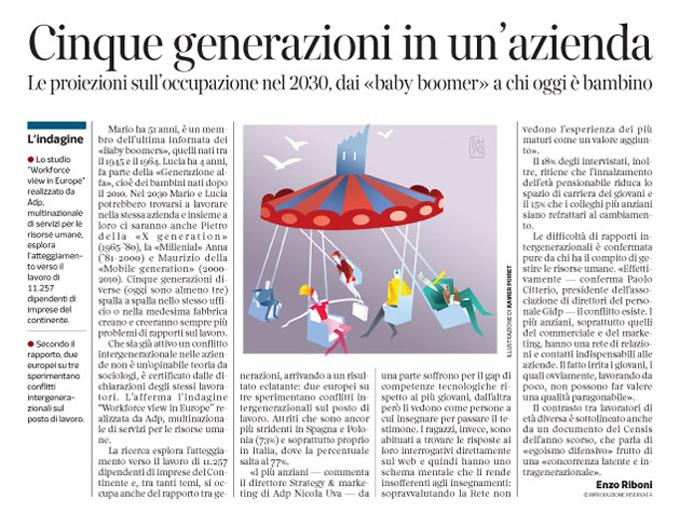 Corriere Economia - 5 generazioni nello stesso ufficio - 24.11.15