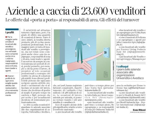 Corriere Economia - opportunità porta a porta - 14.03.17 - pp. 33