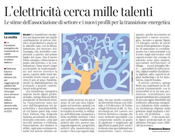 278 - Corriere Economia - newjobs in energie rinnovabili e Big data -15.01.19 - pp. 35