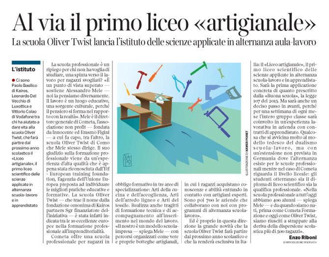 Corriere economia - alternanza scuola-lavoro  - 8.03.16 - pp. 37 -