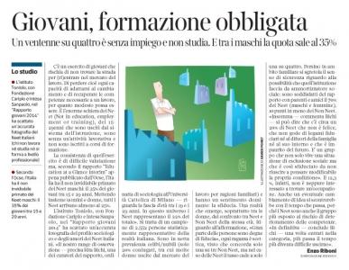 Corriere economia - neet maschio  - 24.02.15