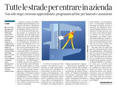 Corriere economia - testare i talenti - 05.07.16 - pp. 31