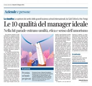 Corriere Economia - 13.06.14 - le 10 doti del manager oggi