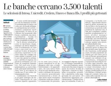 257 - Corriere Economia - in banca per managers, analisti e sviluppatori - 12.06.18 - pp. 41