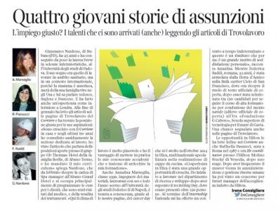 Corriere Economia - lavoro trovato con il giornale - 2.06.15