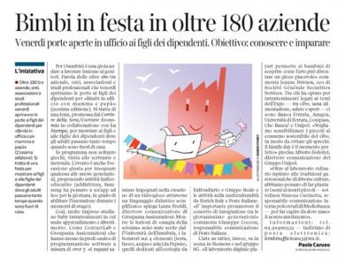 Corriere Economia - Ufficio. Festa dei bimbi - 19.05.15