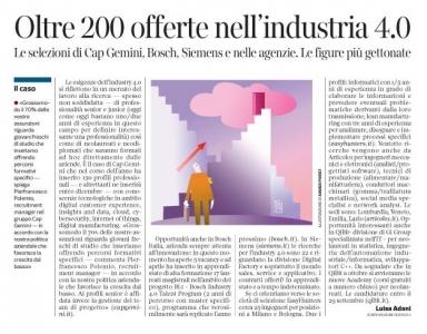 229 - Corriere Economia - clouds, socials, hi-tech, assunzioni  - 26.09.17 - pp.39