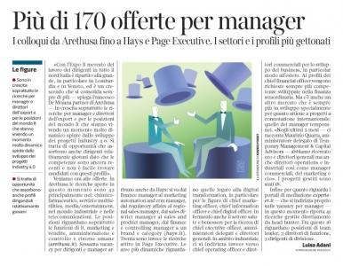 234 - Corriere Economia - assunzioni di managers - 7.11.17 - pp.43