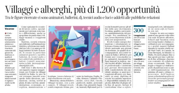 Corriere Economia - opportunità estive x i giovani - 16.05-17 - pp.33