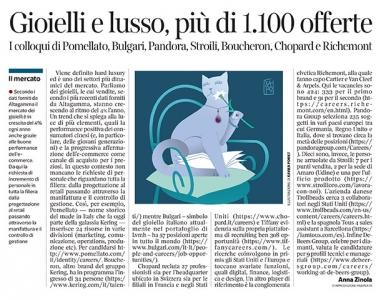 302 - Corriere Economia - Hard Luxury ; assunzioni - 09.06.19 - pp.33