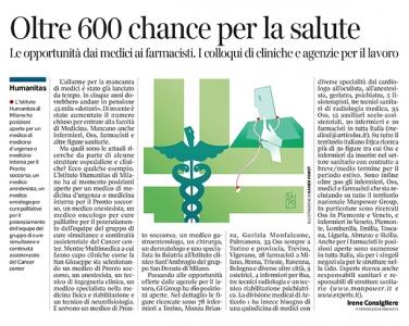 301 - Corriere Economia - personale sanitario; assunzioni - 02.07.19 - pp.33
