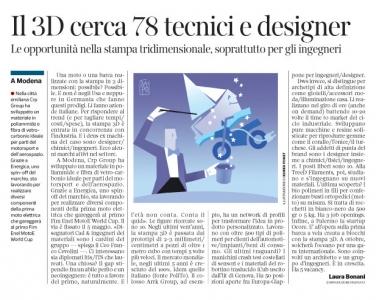 280 - Corriere Economia - Stampa 3d, assunzioni - 29.01.19 - pp. 27