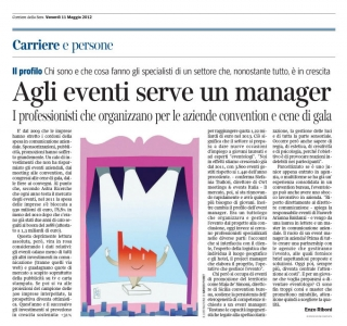 Corriere Economia - 11.05.12 - Events management