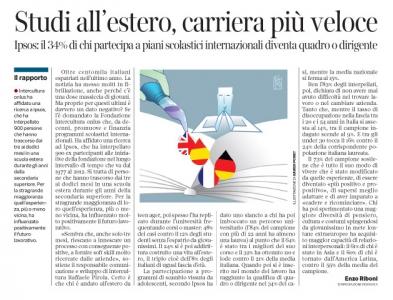 Corriere  Economia - 1 anno di studi all'estero e... 18.10.16 -  pp.35