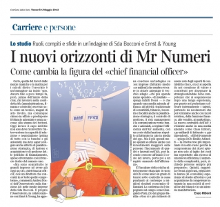 Corriere Economia - 4.05.12 - Chief financial officer