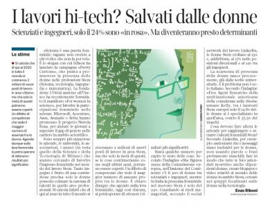 Corriere Economia - Donne e professioni Stem - 1.11.16 - pp.45