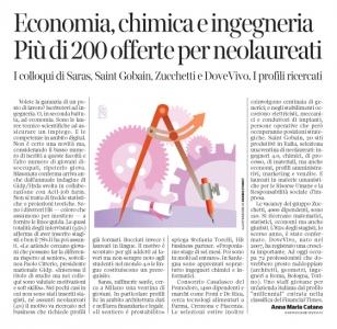 261 - Corriere Economia - ingegneri o laureati tecnico-scientifici cercasi - 10.07.18 - pp.31