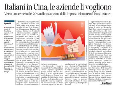 Corriere economia - 09.02.16 - personale per le filiale Italiane in Cina - pp.31