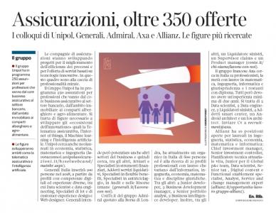247 - Corriere Economia - assunzioni nelle assicurazioni - 20.03.18 - pp.35