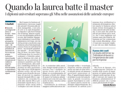 Corriere Economia - Lauree lunghe o brevi - 21.07.15
