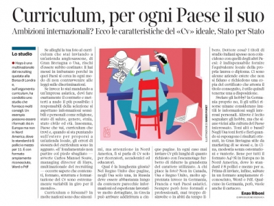 Corriere economia - 14.10.14 - Curriculum, per ogni paese il suo