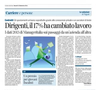 Corriere  Economia - 12.09.14 -  Mobilità dei dirigenti