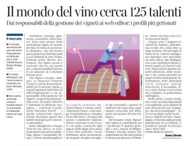 270 - Corriere Economia - lavoro nel mondo del vino- 30.10.18 - pp.33