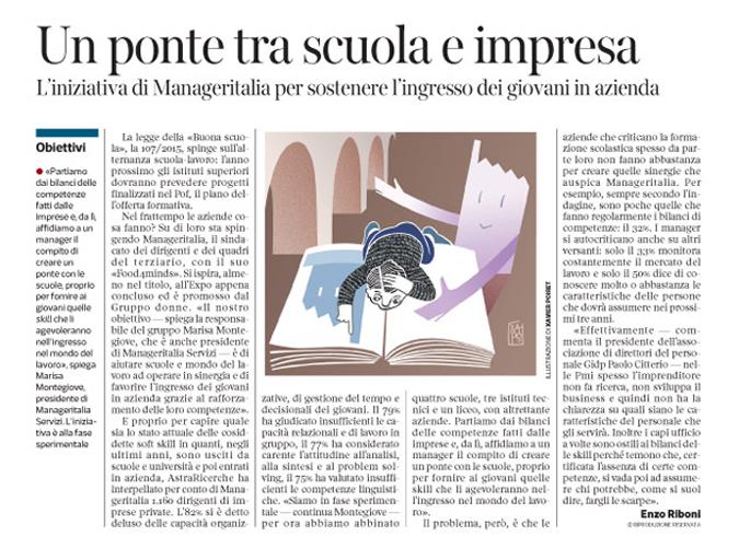 Corriere Economia - un ponte tra scuola e azienda - 3.11.15