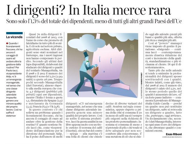 Corriere economia - 18.11.14 - managers - la paura del licenziamento -  pp.35